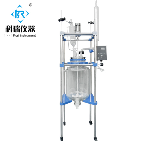 New style 50L double triple lined glass reactor kori